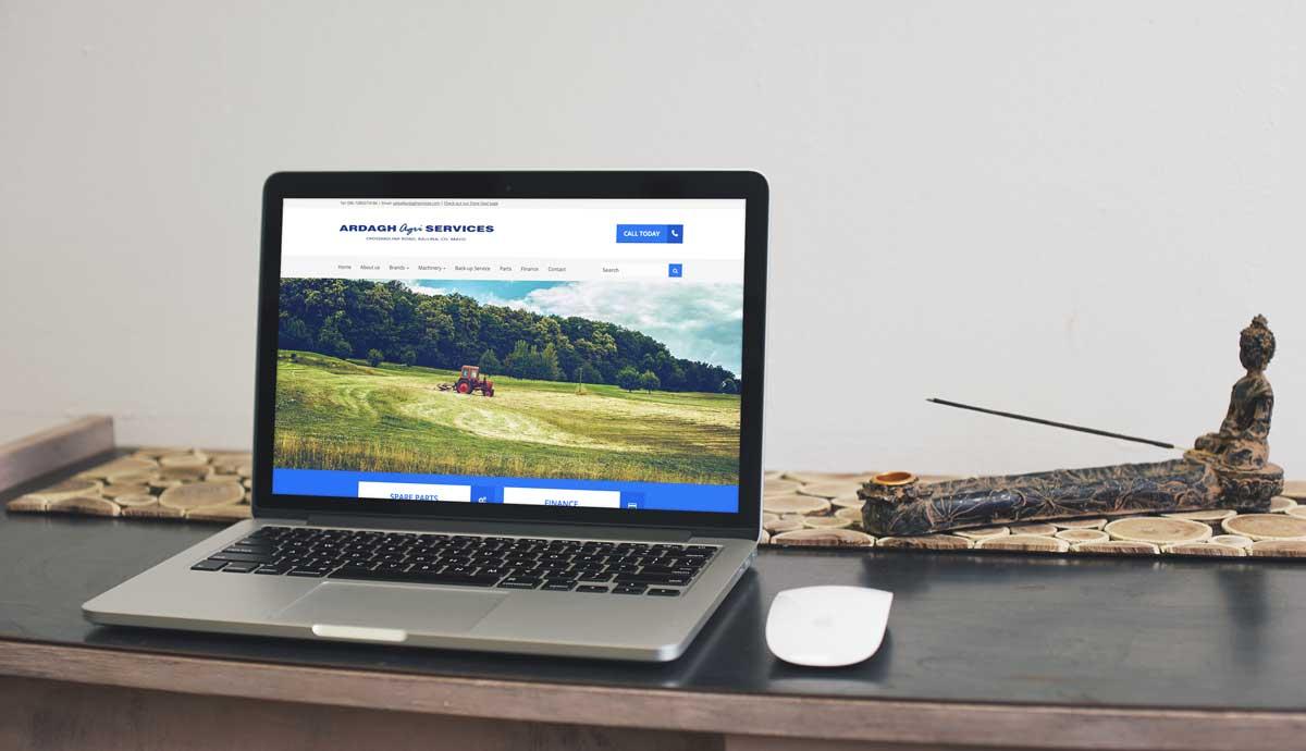 Mock-up of Ardagh Agri Services website