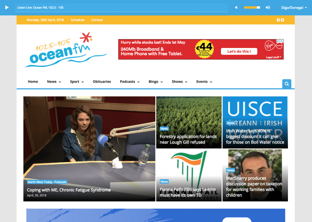 Ocean FM website