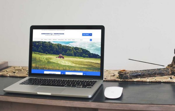 Mock-up of Ardagh Agri Services website